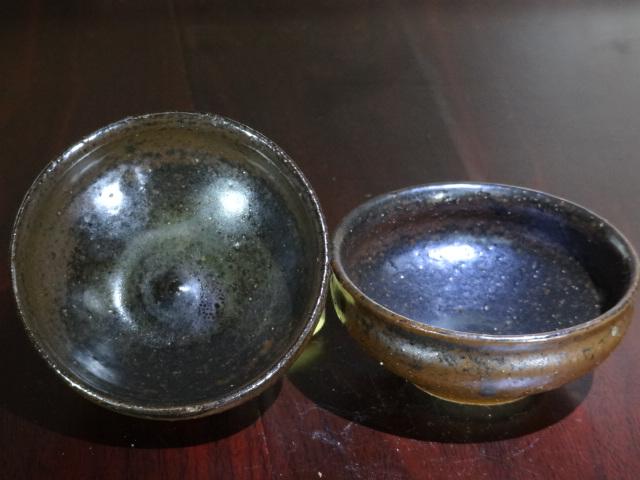 柴烧仿古釉亚光小茶碗