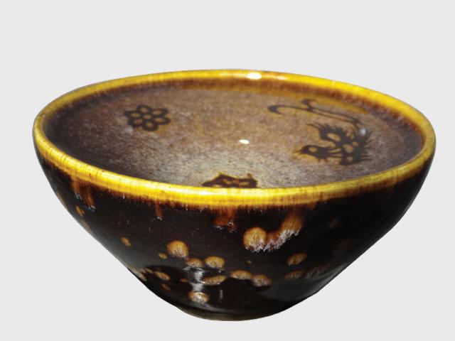 菩提花凤纹茶碗